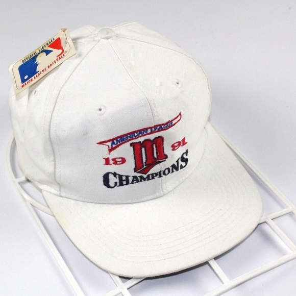 d93ba880796 Vintage Minnesota Twins AL Champions Snapback Hat